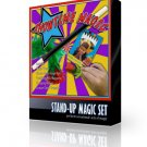 Deluxe STAND UP MAGIC SET 5 Trick Beginner Kit Magician Wand Flowers Crayons Toy