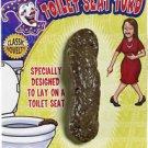 FAKE TOILET POOPER SEAT TURD CRAP POO Joke Prank POOP Gag Dog Human Rubber Prop