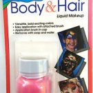 Hot PINK BODY & HAIR LIQUID Stage Paint Color Brush Clown Makeup Costume Mehron