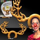 "22"" INFLATABLE RUDOLPH THE RED NOSE REINDEER ANTLERS Blow Up Christmas Deer Hat"