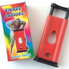 RED FINGER CHOPPER Magic Trick Cutter Guillotine Close Up Plastic Pocket Joke