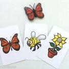 MISCHIEVOUS BUTTERFLY CARDS MAGIC TRICK Plastic Fly Fake Bug Prank Joke Gag Set