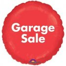 "18"" GARAGE SALE BALLOONS Bright Red Mylar Advertising YARD Sign House Big Prop"