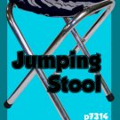 COMEDY JUMPING STOOL Stage Prop Magic Trick Clown Gag Jumps Camp Seat Table