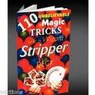 STRIPPER DECK BOOK 110 Magic Trick Cards Wizard Tapered Booklet Beginner Strip