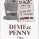 DIME & PENNY BOOK Close Up Coin Magic Tricks Learn Magician Tips Ideas Routines
