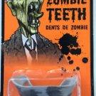 RUBBER ZOMBIE TEETH Fake Monster Joke Gag Prank Rotted Mummy Halloween Dentures