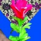 """15"""" APPEARING FEATHER FLOWER FROM HANKY Handkerchief Sleeve Cloth Magic Trick"""