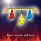 UNCANNY HANKIES Silks Scarf Hanky Magic Trick Ribbon Drop Off at your Command