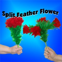 SPLIT FEATHER FLOWER Comedy Magic Trick Clown Kid Rose