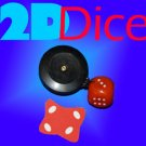 FLATTENED 2D DICE REEL Smashed Die Magic Trick Pull Smash Magician Vanishing Toy