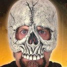 SKULL BALD HEAD HALF MASK Monster PVC Rubber Halloween Costume Skeleton Adult