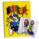 MAGIC CIRCUS CLOWN COLORING BOOK Kid Show Trick Magician Pictures Change Colors