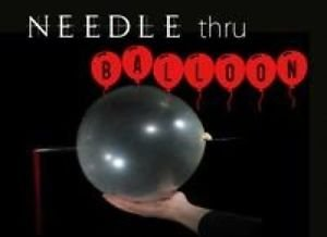 Needle Through Balloon Magic Tricks Thru Penetration Kid Show Clear Stage Comedy