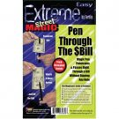 Large PENETRATION PEN THROUGH BILL Dollar Magic Trick Penetrating Thru Money Toy