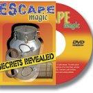 ESCAPES MAGIC SECRETS REVEALED DVD Tricks Instructional Rope Chain Houdini Cuffs