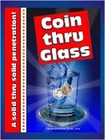 COIN THRU GLASS Magic Trick Penny Dime  Penetration Metal Coaster Tray Through