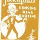 CHINESE LINKING RING ROUTINE BOOKLET Jack Miller Magic Trick Book Rope Magician