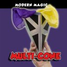 Modern MULTI CONE PRODUCTION Prop Magic Trick Quick Change Appearing Silk Vanish