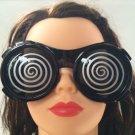 X RAY HYPNO GLASSES Funny HYPNOTIC Sun Costume Swirl XRAY Movie Black Goggle Gag