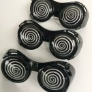 3 X RAY HYPNO GLASSES Funny HYPNOTIC Sun Costume Swirl XRAY Movie Black Goggle