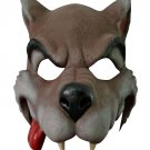 CARTOON WOLF RUBBER HALF FACE MASK Halloween Dog Werewolf Scary Fang Big Bad