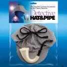 DETECTIVE HAT & PIPE SET Sherlock Holmes Cap English Plastic Toy Smoke Joke Fake