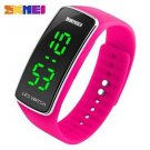 New Unisex Rose Color LED Digital Silicone Sports Bracelet Watch