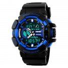New Men's Blue & Black Water Proof Multi Function Digital Watch