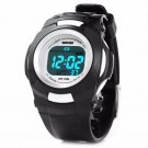 New Boy's Black & White Digital Multi Function Sports Watch