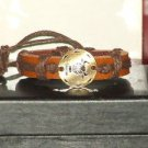 Vintage Style Adjustable Taurus Leather Bracelet