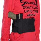 New Compact Black Nylon Waist Pouch with Shoulder Strap for Hunting XL