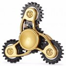 Gold & Black Tri-Blade Linkage Finger Spinner