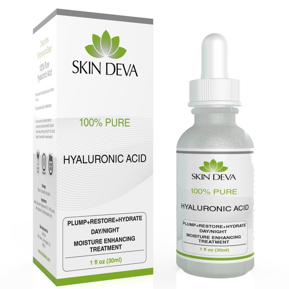 Hyaluronic Acid Serum 100% Pure - For all types of skin - Best Moisturizing Serum - 1 oz