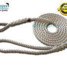 "1/2"" X 15' Three Strand Mooring Line 100% Nylon Rope with Thimble. (Tensile Strength 6700 Lbs.)"