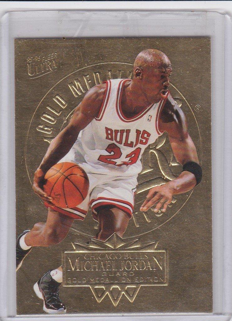 f7868bdf4a5 Michael Jordan 1995-96 Fleer Ultra GOLD MEDALLION #25 Chicago Bulls