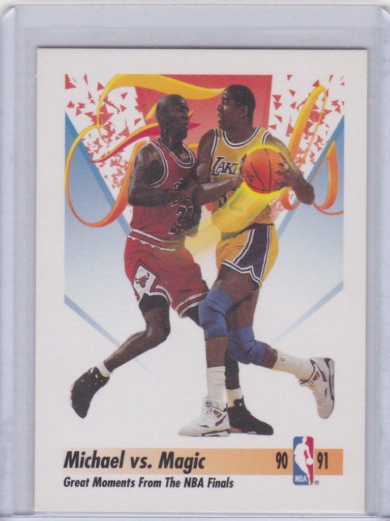 77cc123c0e1 Michael Jordan 1990-91 Skybox Michael vs Magic  333 Chicago Bulls