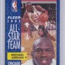 Michael Jordan 1991-92 Fleer Basketball All-Star Team #211 Chicago Bulls