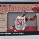 Hakeem Olajuwon 2007-08 Fleer Decades of Excellence #7 Insert Houston Rockets