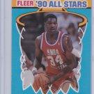 Hakeem Olajuwon 1990-91 Fleer Basketball '90 NBA All-Stars #3 of 12 Insert Houston Rockets