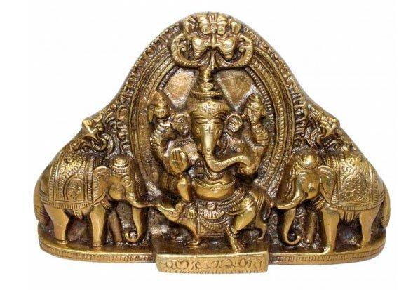 Gaj Ganpati in Brass by Sound Of Vedas