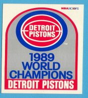1989 Hoops card #353 Detroit Pistons ''World Champions''