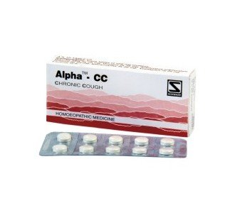 Alpha CC for Chronic Cough 80 Tablets Schwabe Homeopathy