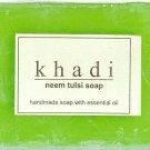 4 Pack of Khadi Handmade Neem Tulsi Soaps 125 gms each