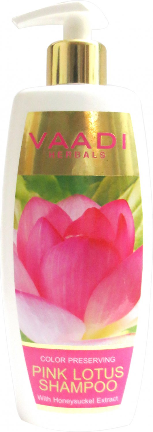 PINK LOTUS SHAMPOO with Honeysuckle Extract - Color Preserving 350 ml