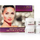 Silver Facial Kit - Pure Silver Dust, Rosemary & lavender Oil, Sandalwood  70 gms