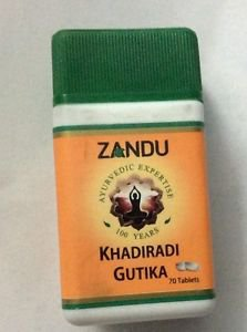 Zandu Khadiradi Gutika 140 Tabs