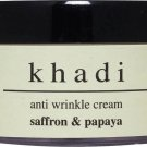 Khadi Herbal Anti Wrinkle Saffron & Papaya Cream 100 gms
