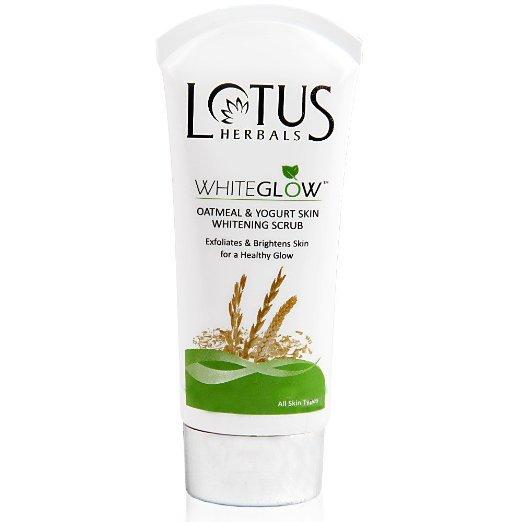 Lotus Herbals WhiteGlow Oatmeal and Yogurt Skin Whitening Scrub, 100g