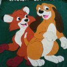 handmade fleece blanket fox and the hound